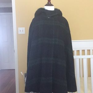 Zara plaid green cape
